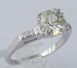 1.42ct Vintage Platinum Old European Cut Diamond Engagement Ring EGL Rtl $11,470