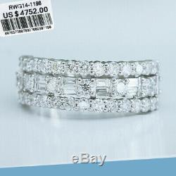 1.5Ct 100% Natural Diamond 14K White Gold Cocktail Cluster Ring EFFECT 3Ct RWG91