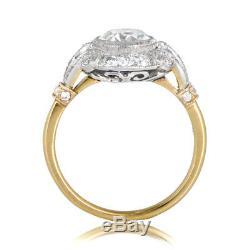 1.6 Ct Diamond Vintage Edwardian Circa 1920-25 Antique Engagement Art Deco Ring