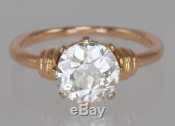 1.65ct Old Cut Solitaire 18K Gold Antique Ring + IGR Diamond Certiicate & Report