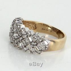 1.75ct Mixed Cut Diamond Band Vintage 14k Gold Estate Fine Jewelry Pre Owned