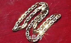 10k 417 yellow gold solid gucci link chain bracelet 8.0 vintage 1.9gr