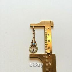 10k gold lavalier pendant opal freshwater pearls enamel antique victorian vtg