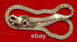 10k yellow gold bracelet 7.0 Bismark mesh link chain vintage handmade 1.7gr