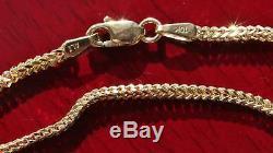 10kt yellow gold 8.0 Franco link chain bracelet vintage 1.0gr