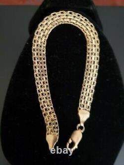 14k Gold Vintage Mesh Bracelet