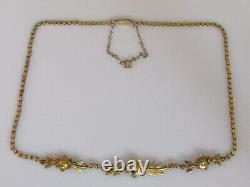 15ct Gold Necklace Victorian 15ct Gold Multi Seed Pearl Pendant Necklace