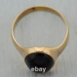 1860's Antique Victorian 14k Yellow Gold Bohemian Garnet Ring