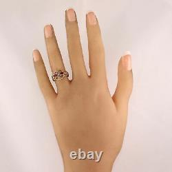 1870's Antique Victorian 14k Yellow Gold 0.15ctw Ruby & Seed Pearl Ring
