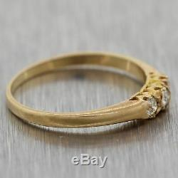 1880's Antique Victorian 14k Yellow Gold 0.15ctw Diamond Wedding Band Ring
