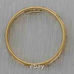 1880's Antique Victorian 14k Yellow Gold 0.20ctw Diamond Wedding Band Ring