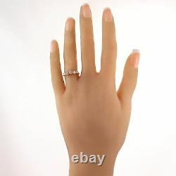 1880's Antique Victorian 14k Yellow Gold 0.75ctw Old Mine Cut Diamond Band Ring