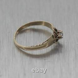 1880's Antique Victorian 14k Yellow Gold Diamond Small Band Ring