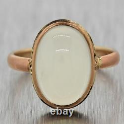 1880's Antique Victorian 14k Yellow Gold Moonstone Ring