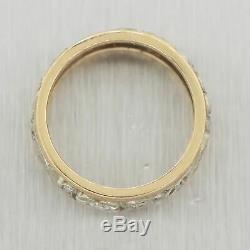 1880s Antique Victorian 14k Yellow & White Gold 0.50ctw Diamond Filigree Ring