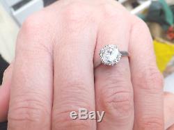 18ct/18k gold & platinum 2ct old cut Diamond solitaire period Art deco ring, 750