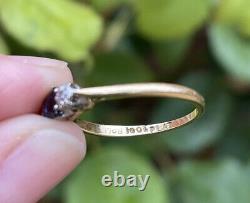 18ct Gold Platinum Deco Antique Three Stone Diamond And Sapphire Trilogy Ring