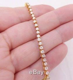 18ct gold 3.30ct diamond bracelet, 18k 750