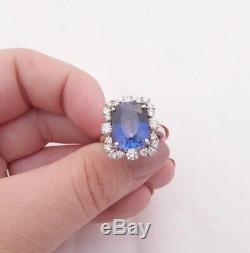 18ct gold Sapphire diamond ring, cluster