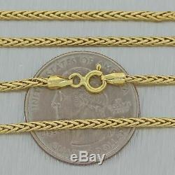 18k Solid Yellow Gold 18 Wheat Link Chain Necklace