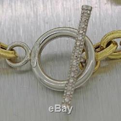 18k Yellow Gold 0.20ctw Diamond Toggle Oval Link Bracelet