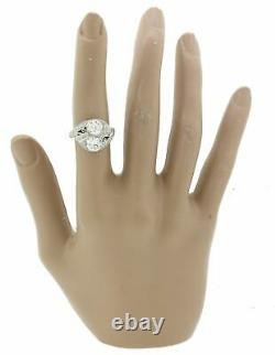 1920s Antique Art Deco Estate Solid Platinum 2.25ctw Diamond Engagement Ring AGI