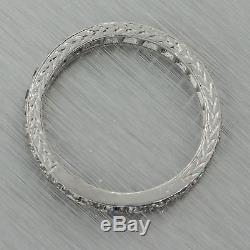1920s Art Deco Platinum 1.00ct Diamond 2.5mm Wide Eternity Wedding Band Ring