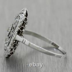 1930's Antique Art Deco 14k White Gold 0.40ctw Diamond Filigree Ring