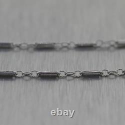 1930's Antique Art Deco 14k White Gold 1.25ctw Diamond Snowflake 15 Necklace