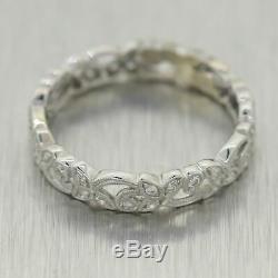 1930's Antique Art Deco 18k White Gold 0.20ctw Diamond Filigree Ring