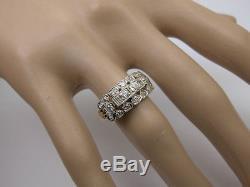 1940s ESTATE 0.50tcw OLD MINE CUT DIAMOND RING ANTIQUE RETRO VINTAGE 14K GOLD