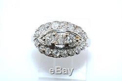 1950's Vintage Mine Cut Diamond 14k Yellow Gold Dome Ring 1.0 carat