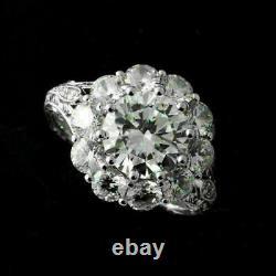 2.1 Ct Diamond Antique Filigree Vintage Deco Engagement Ring 14K White Gold Over