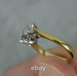 2.15 Carat Natural Diamond 18 Carat Gold Trilogy Ring