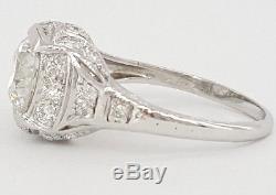 2.22 ct Vintage Platinum Old European Diamond Engagement Ring EGL-USA Rtl $22k