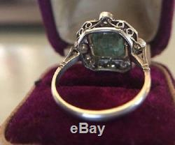 2.5 Ct Art Deco Antique Emerald Cut Engagement Ring Sterling Silver Circa 1850