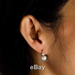 2.50Ct Diamond Vintage Art Deco Antique Stud Bride Unique wedding Retro Earring