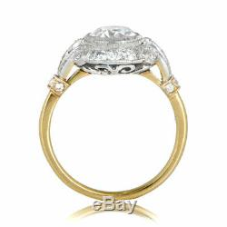 2. Ct Diamond Vintage Edwardian Circa Inspired Antique Engagement Art Deco Ring