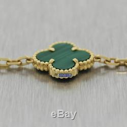 2014 Van Cleef & Arpels 18k Yellow Gold Vintage Alhambra Malachite 16.5 Necklace