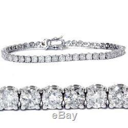 7.00 Ct Round HUGE Natural Diamond Tennis Bracelet 14K White Gold Antique Style