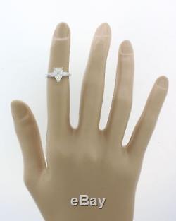 70%OFF Vintage Estate Platinum 1.12ctw Pear Baguette Diamond Engagement Ring EGL
