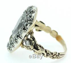 A Fantastic 6ct Pear Shaped Georgian Old Mine Cut Diamond Cluster Ring Cr 1800's