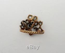 A Stunning Georgian 2ct Old Cut Diamond Giardinetti Ring Circa 1800s