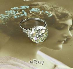 A colossal 6.04ct Ladies Art Deco Diamond ring circa 1920 platinum mounted