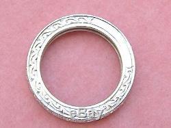ANTIQUE ART DECO 1.10ctw DIAMOND PLATINUM ETERNITY BAND RING 1930 size 5.5
