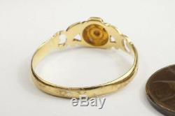 ANTIQUE ENGLISH 18K GOLD PEARL TURQUOISE DIAMOND PANSY RING c1830