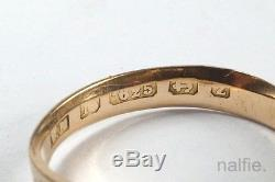 ANTIQUE ENGLISH LATE VICTORIAN 15K GOLD TURQUOISE BUCKLE RING c1899