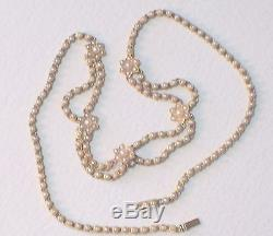 ANTIQUE VICTORIAN 15ct GOLD & NATURAL SEED PEARL NECKLACE