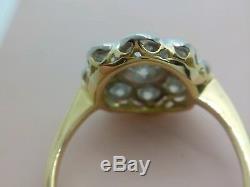 ART DECO 1.70ct DIAMOND DAISY CLUSTER 18ct GOLD PLATINUM L