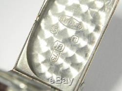 ART DECO ROLEX 18K WHITE GOLD DIAMOND SET LADIES COCKTAIL WRISTWATCH c1920's